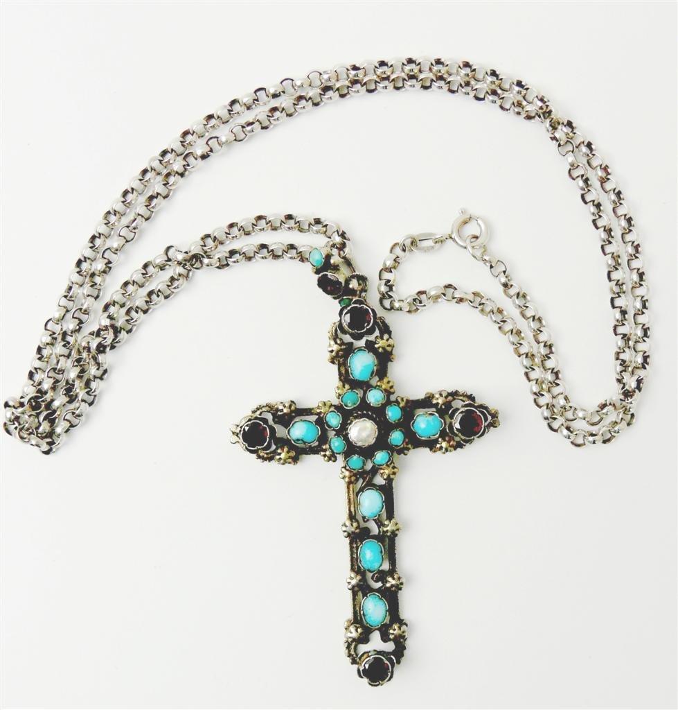 4: costume cross pendant. 1st half of the 19th century