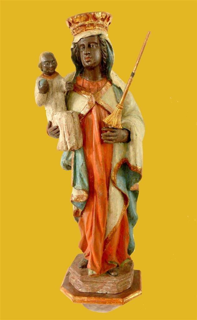 15: Medieval Black Madonna.