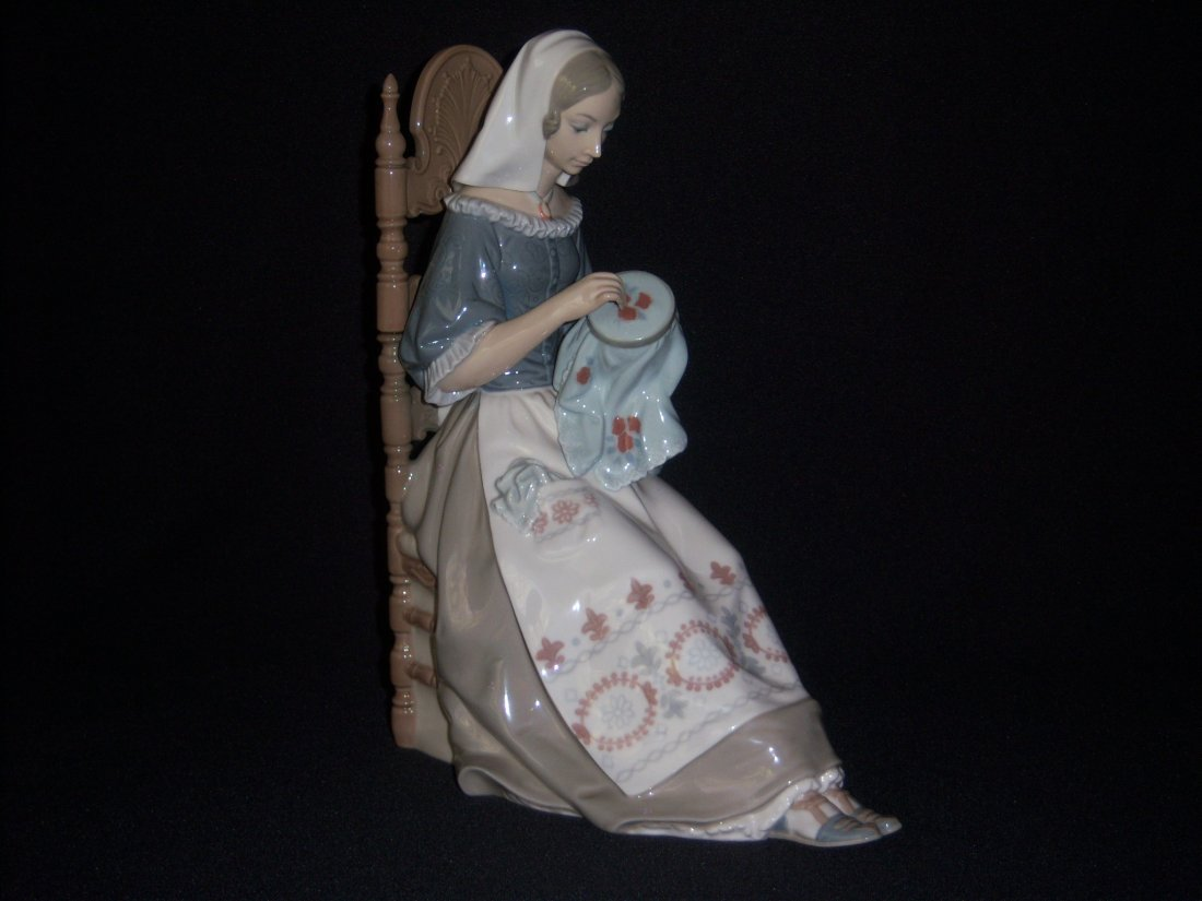 4: Lladro Girl Embroidering
