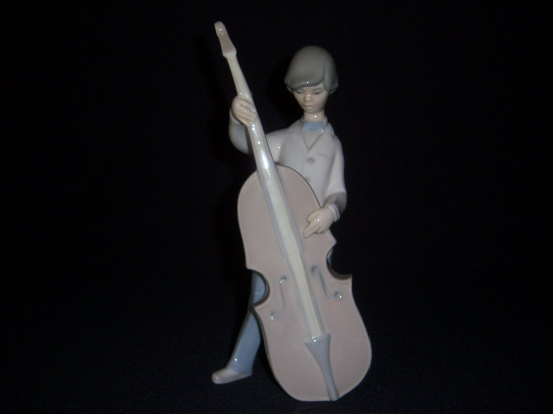 12: Lladro Boy with Double Bass