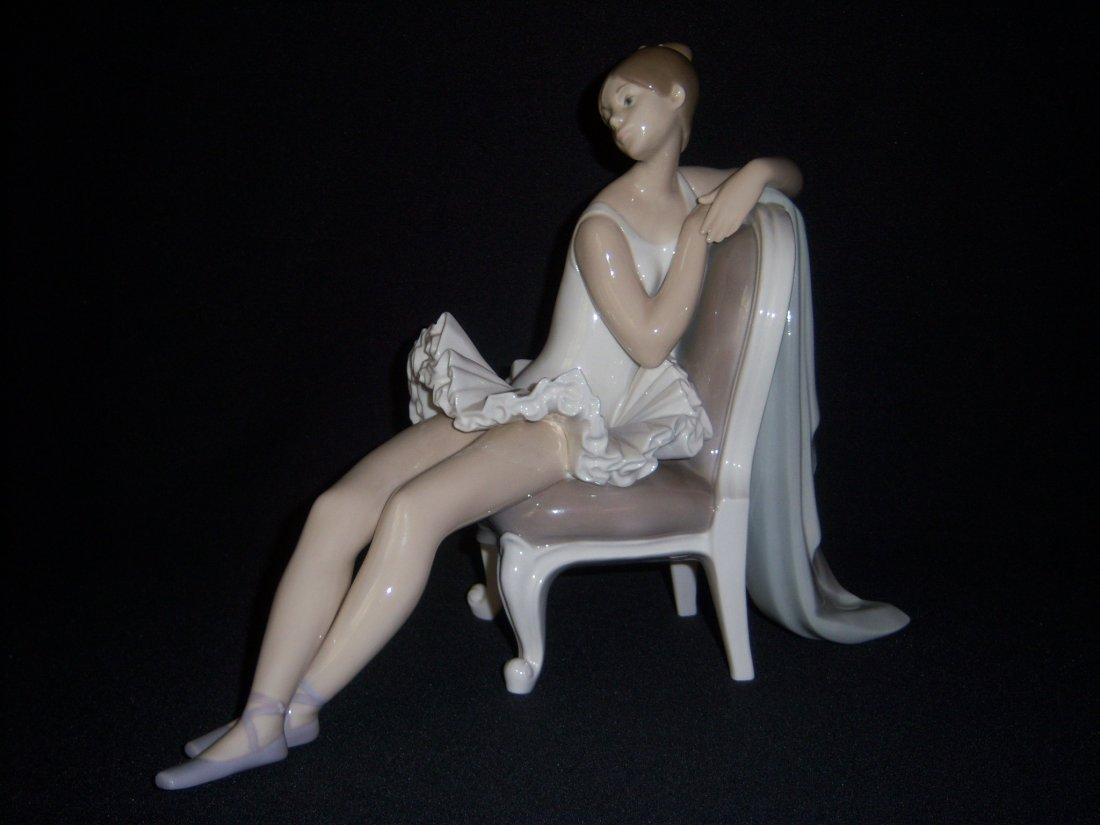 14: Lladro Ballarina Sitting in Chair