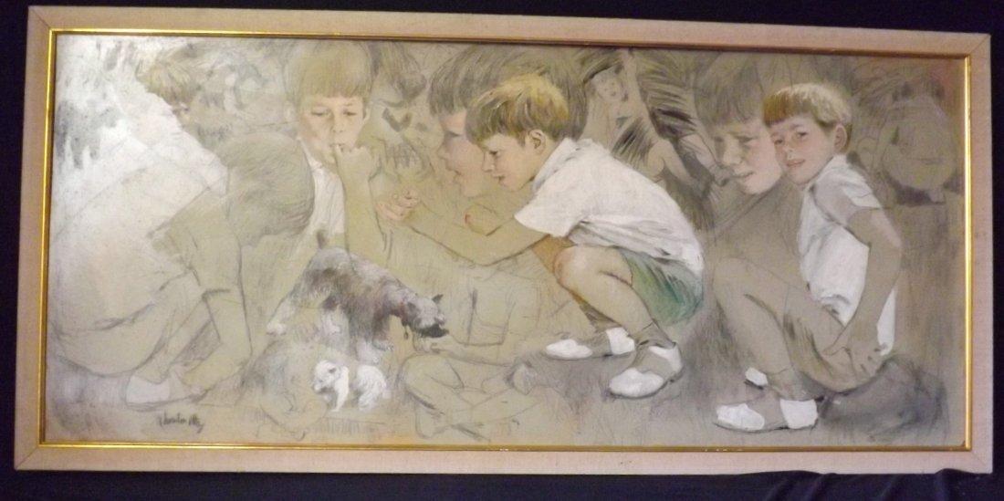 89: Thorton Utz, Painting of John F. Kennedy Jr.