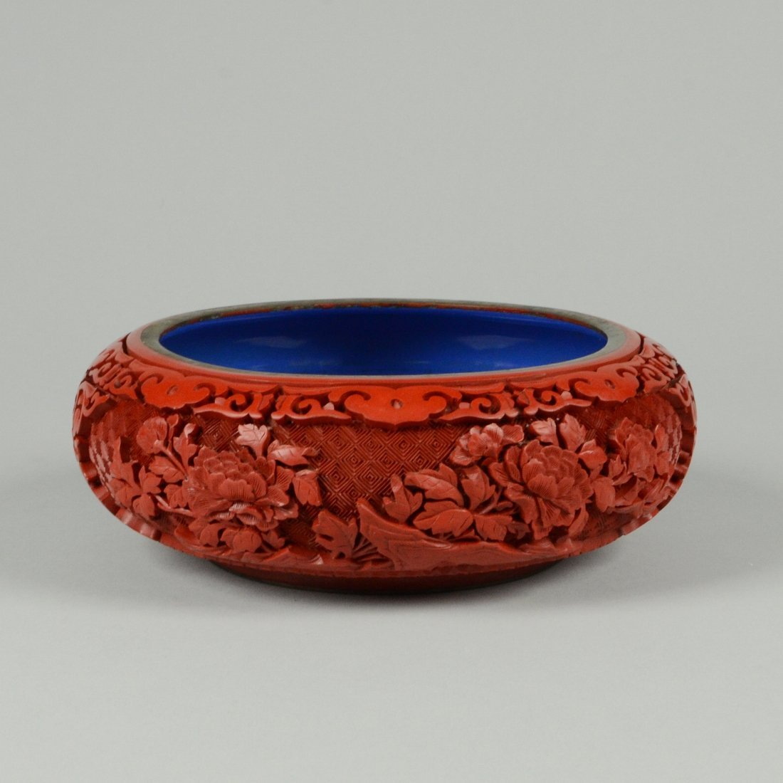 9: CARVED CINNABAR LACQUER WATER POT
