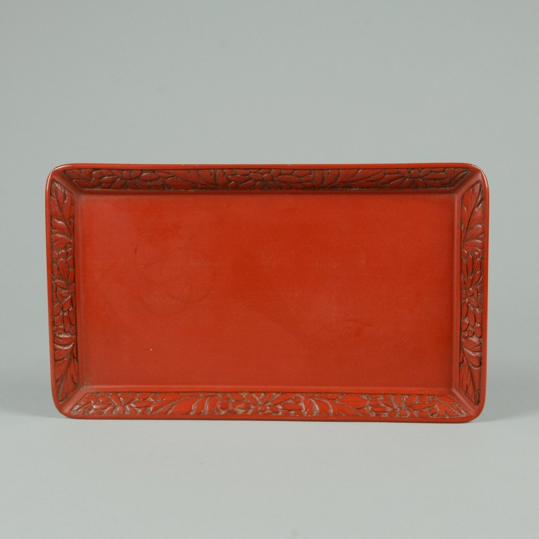 13: RED LACQUER TEA TRAY
