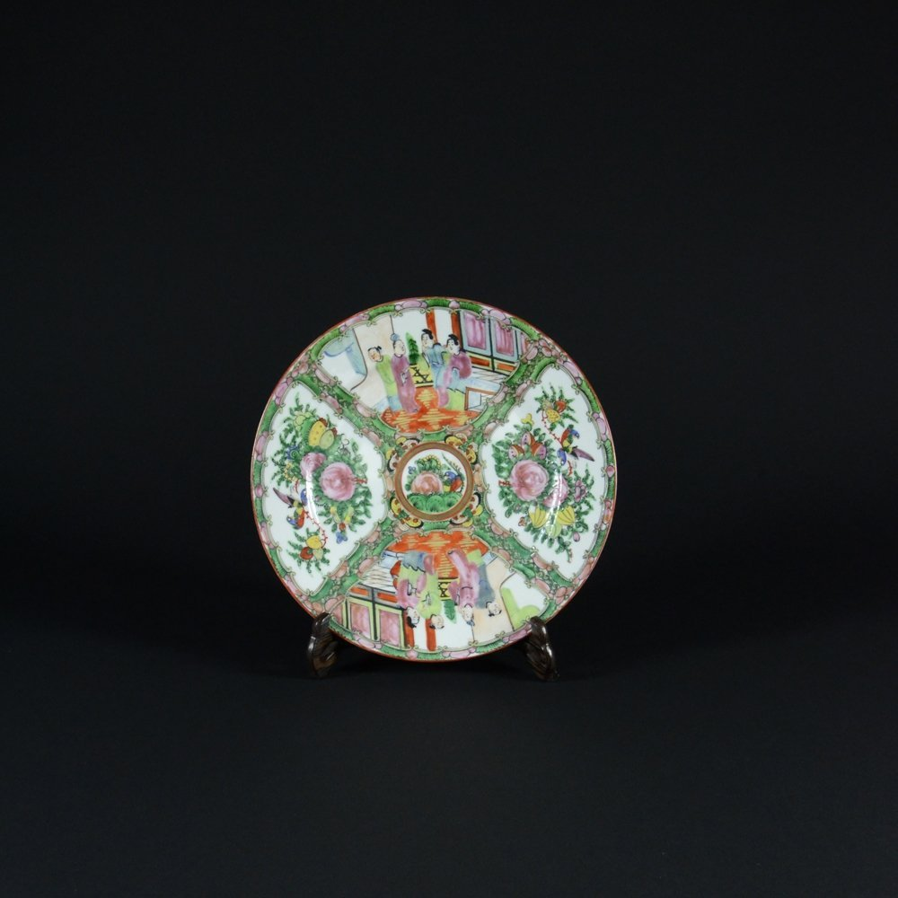 15: CHINESE EXPORT FAMILLE ROSE PORCELAIN PLATE