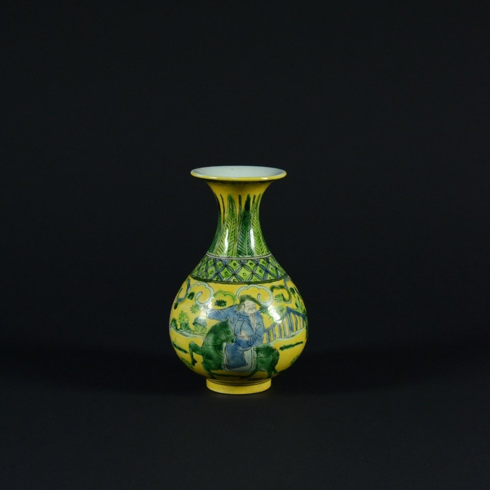 19: SANCAI TRICOLORED VASE