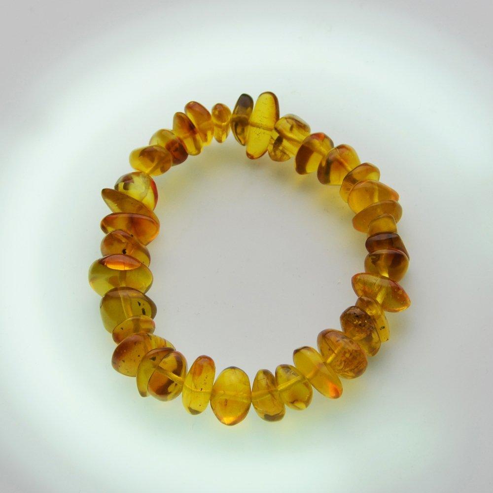 Dominican Republic Gold Amber Bracelet