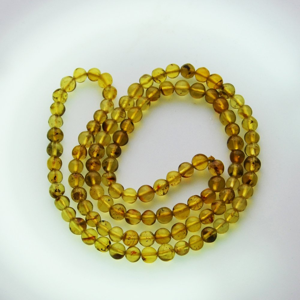 Dominican Republic Gold Amber Necklace
