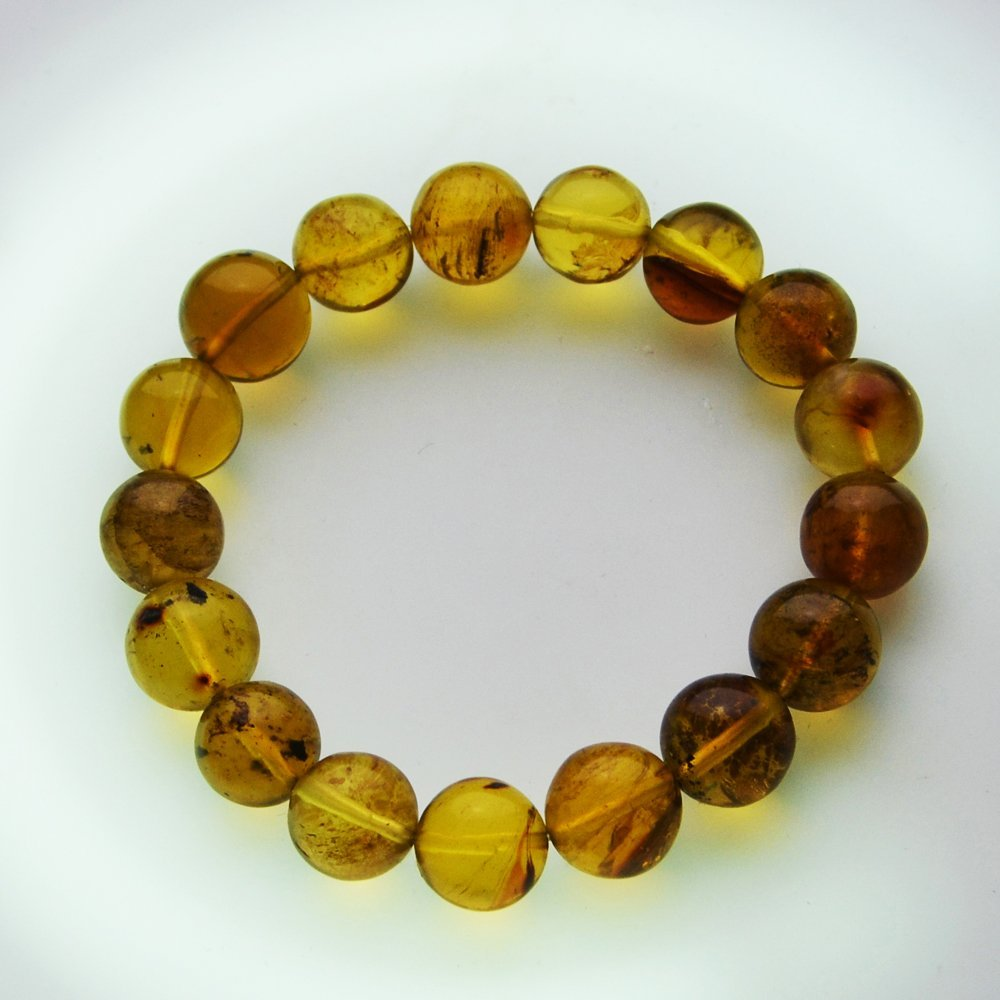 Dominican Republic Green Amber Bracelet
