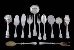 An extensive Italian silver table service by Ricci & C.