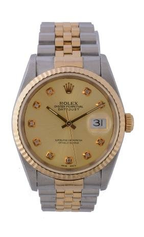 Rolex, Oyster Perpetual Datejust, ref. 16233, a two