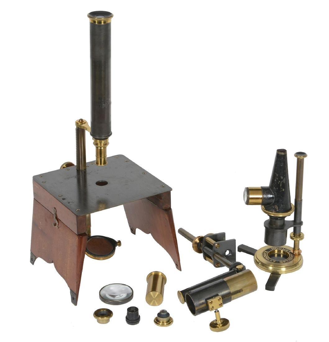 A rare Quekett pattern portable dissecting microscope
