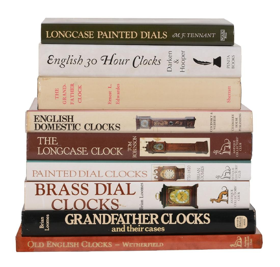 Longcase clocks, nine volumes: Robinson, Tom THE