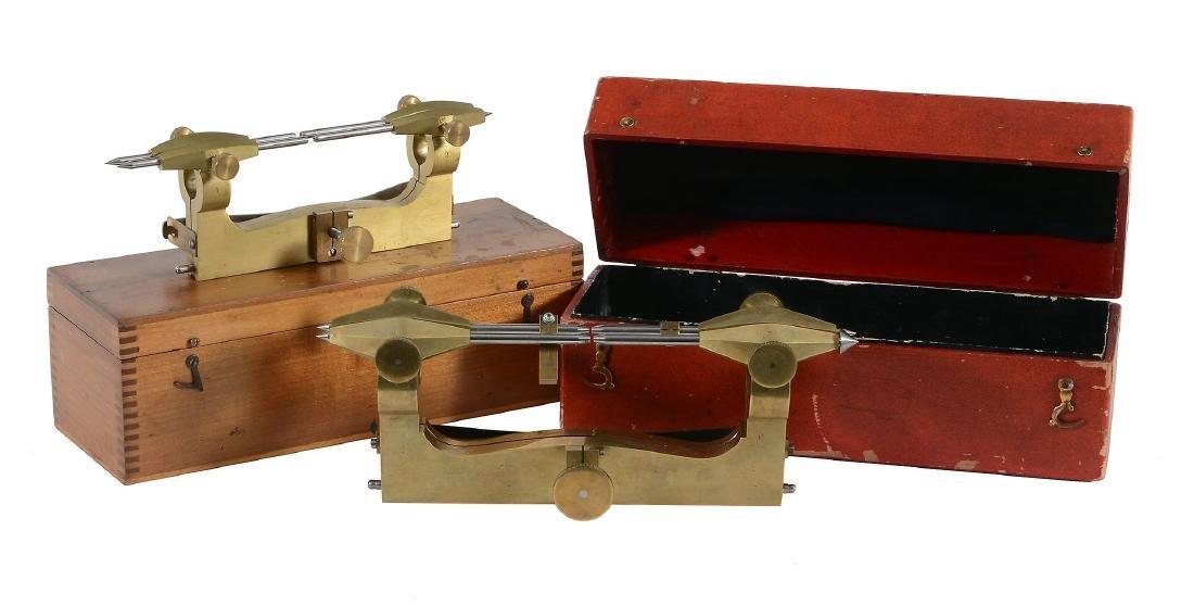 A Swiss brass clockmaker's depthing tool Unsigned