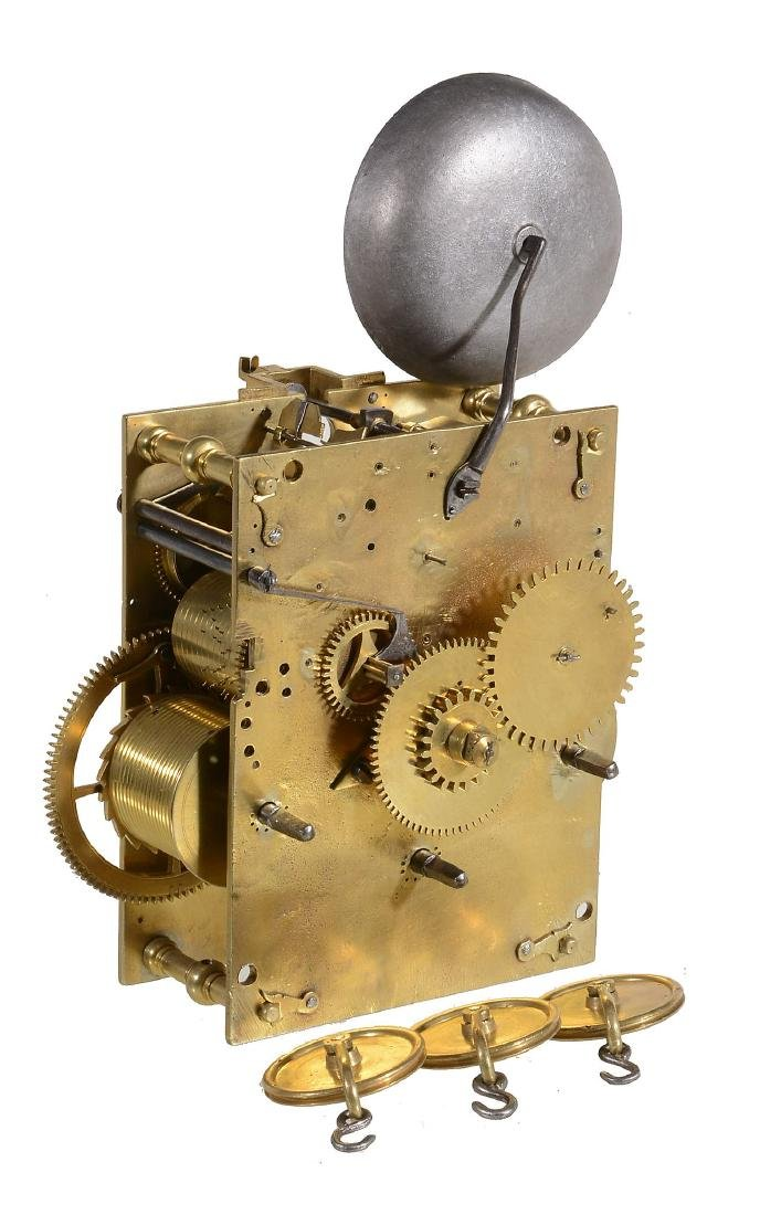 A William III eight-day musical longcase clock movement