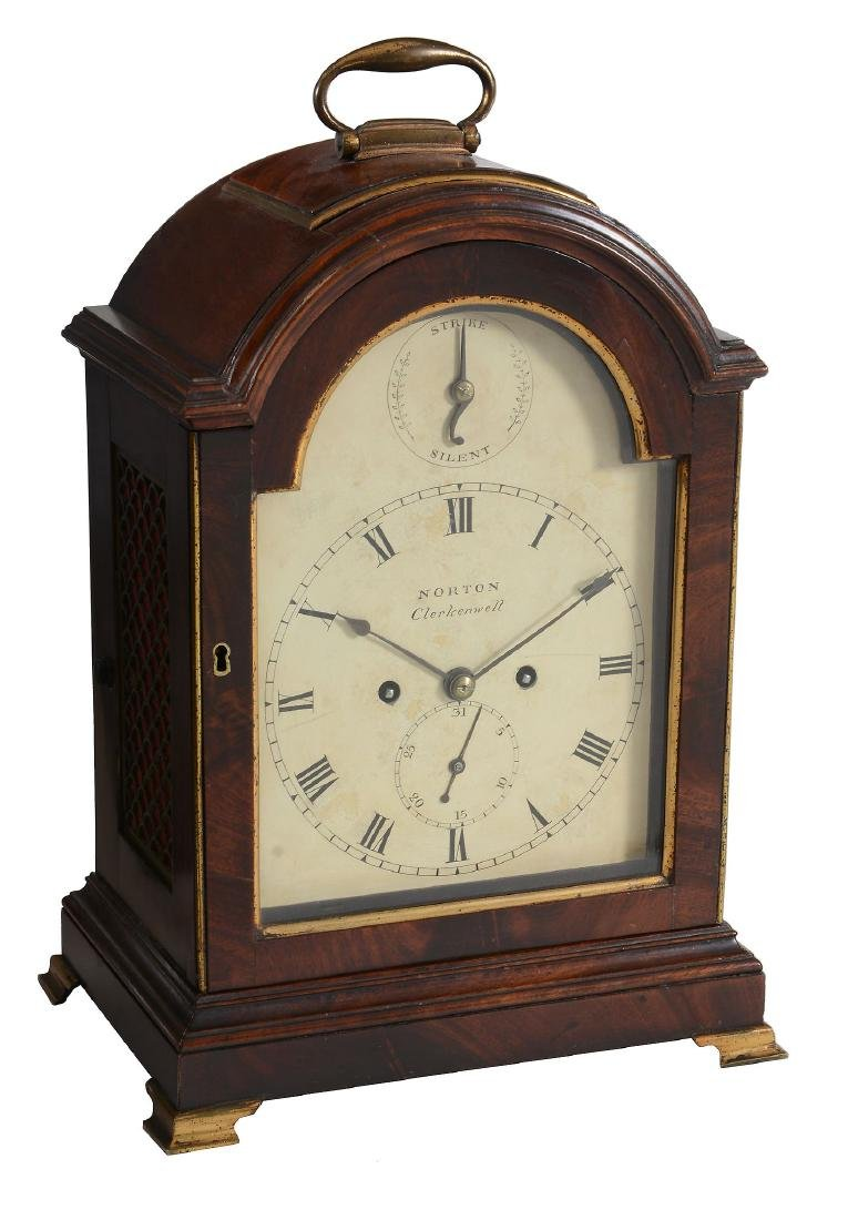 A George III brass mounted mahogany bracket clock The