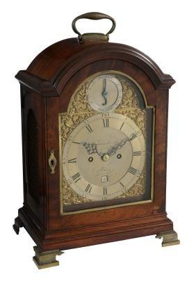 A George Iii Brass Mounted Mahogany Bracket Clock