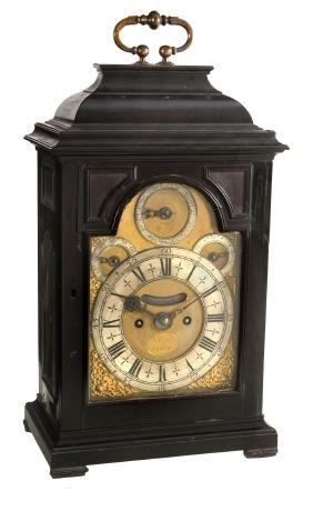 A George I Ebony Table Clock James Reith, London