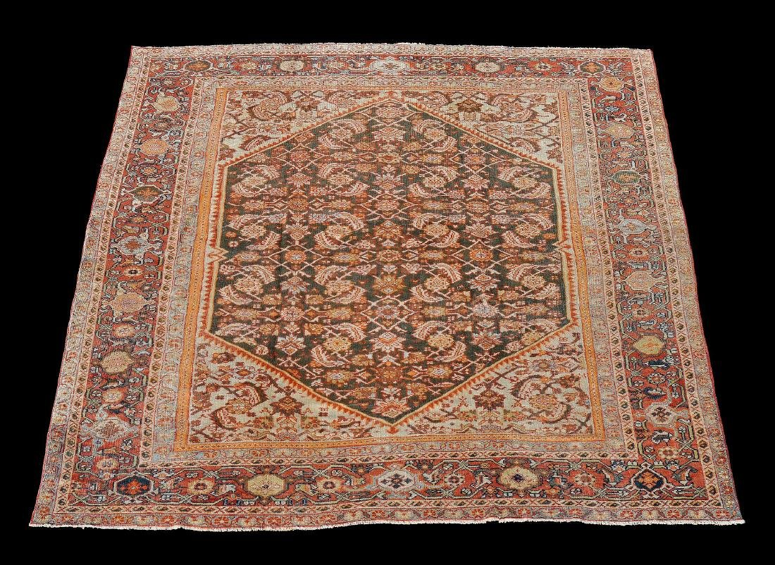 A M ahal carpet , the dark field decorated with