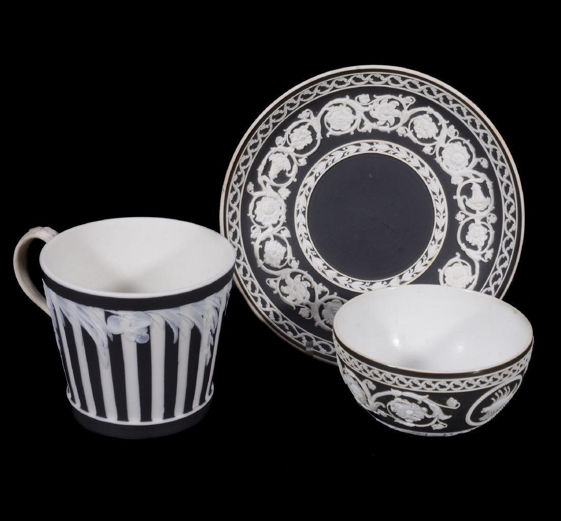 A Wedgwood black-dip jasper zodiacal teabowl and
