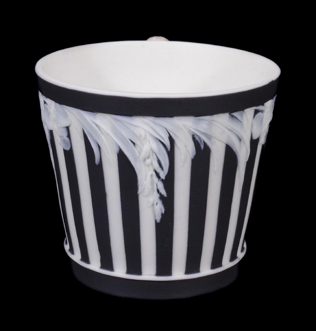 A Wedgwood black-dip jasper zodiacal teabowl and - 3