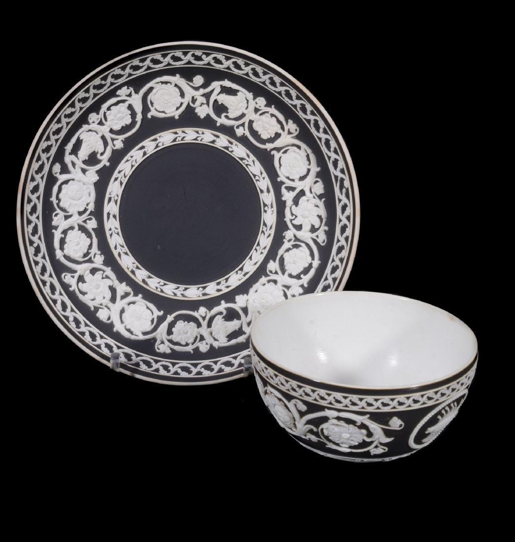 A Wedgwood black-dip jasper zodiacal teabowl and - 5