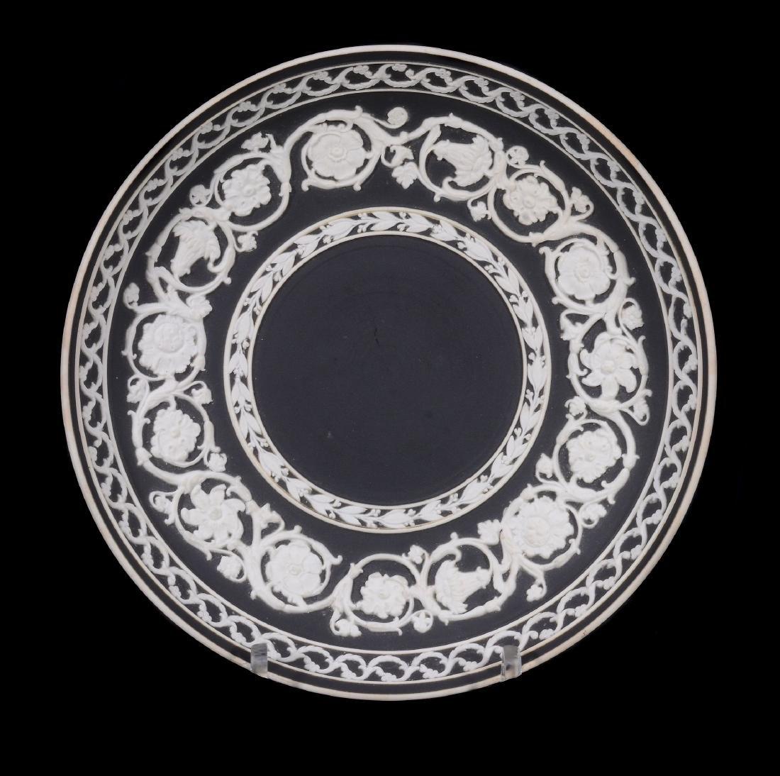 A Wedgwood black-dip jasper zodiacal teabowl and - 8