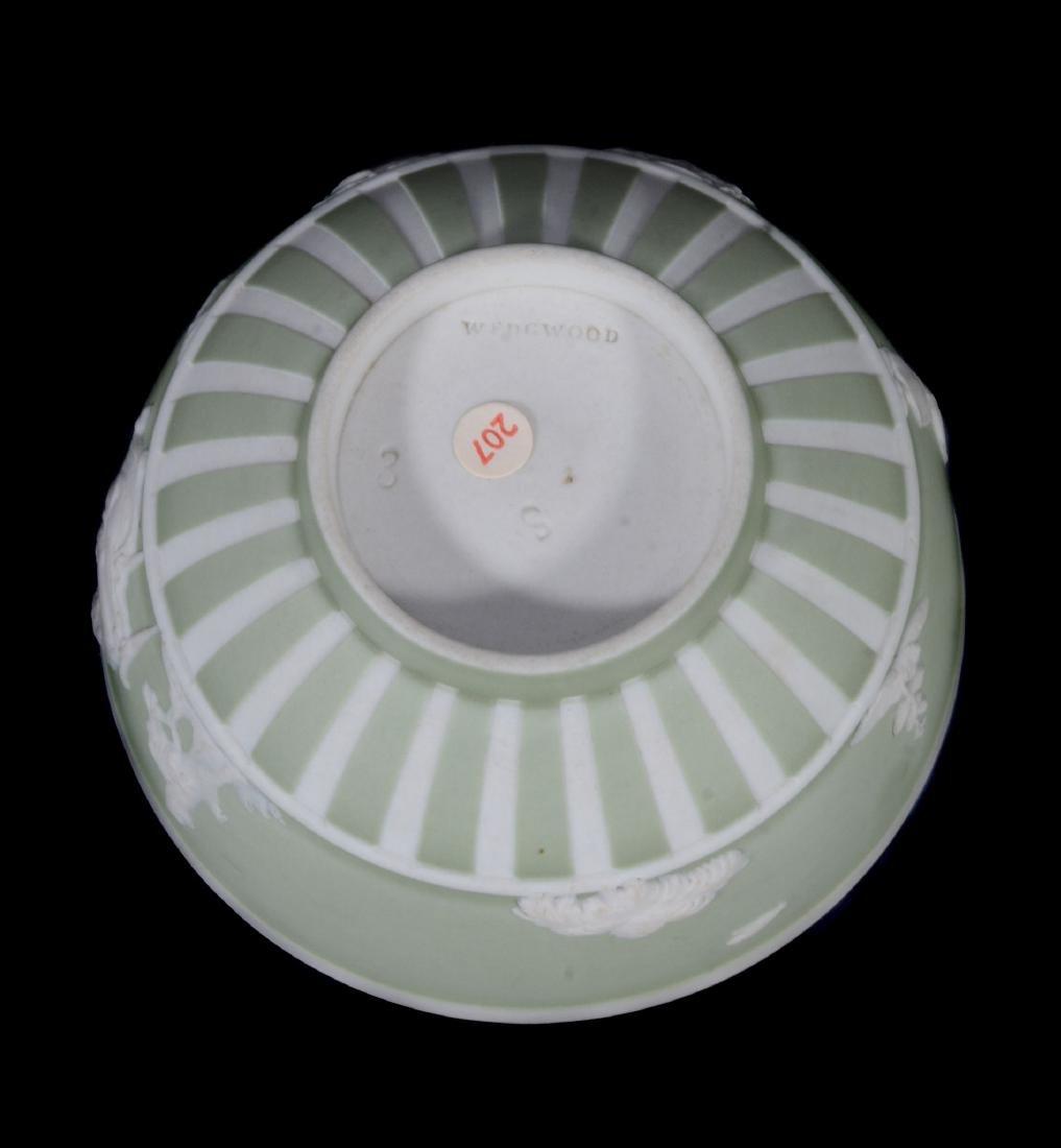 A Wedgwood pale-green jasper-dip tea bowl and saucer, - 8