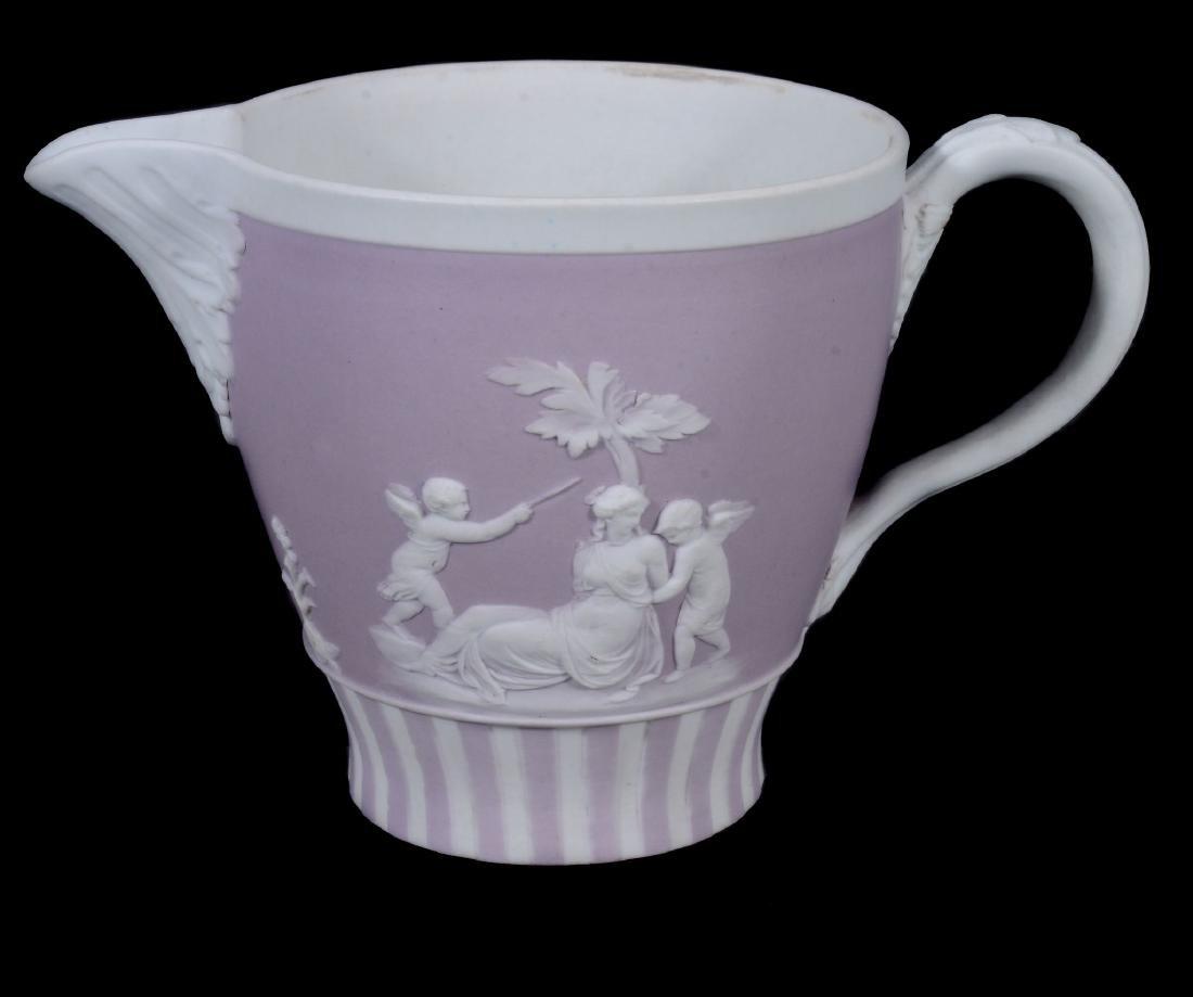 A Wedgwood lilac-dip jasper cylindrical custard cup and - 11