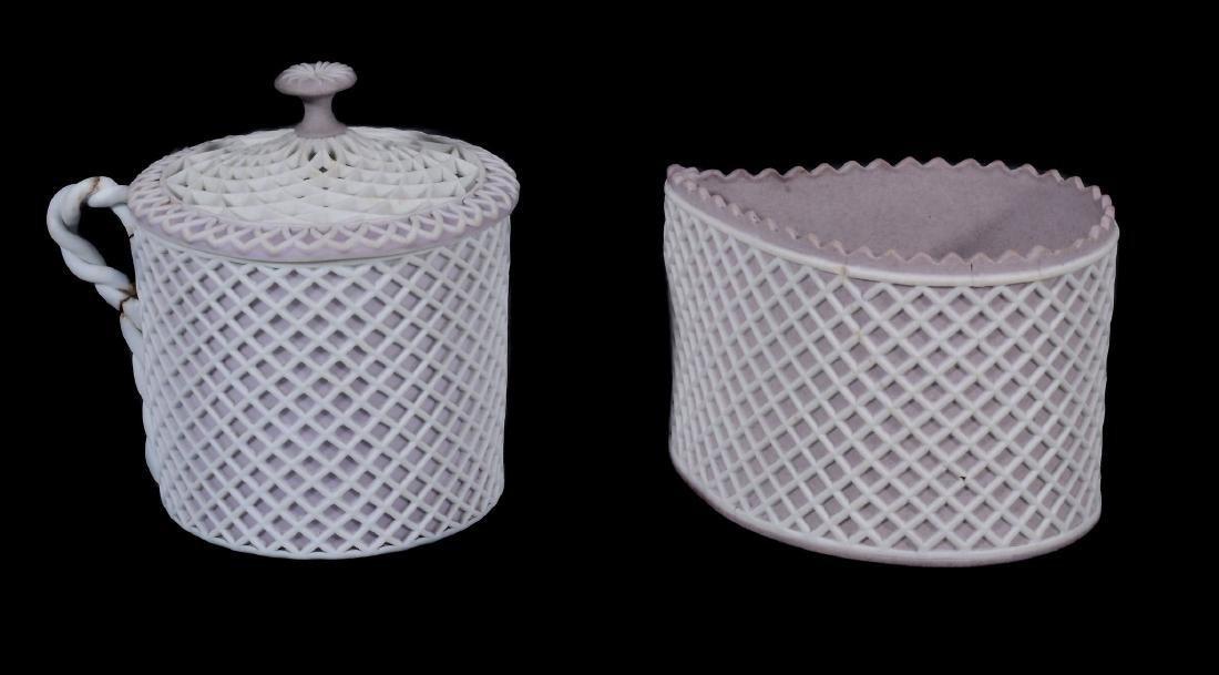 A Wedgwood lilac-dip jasper cylindrical custard cup and - 13