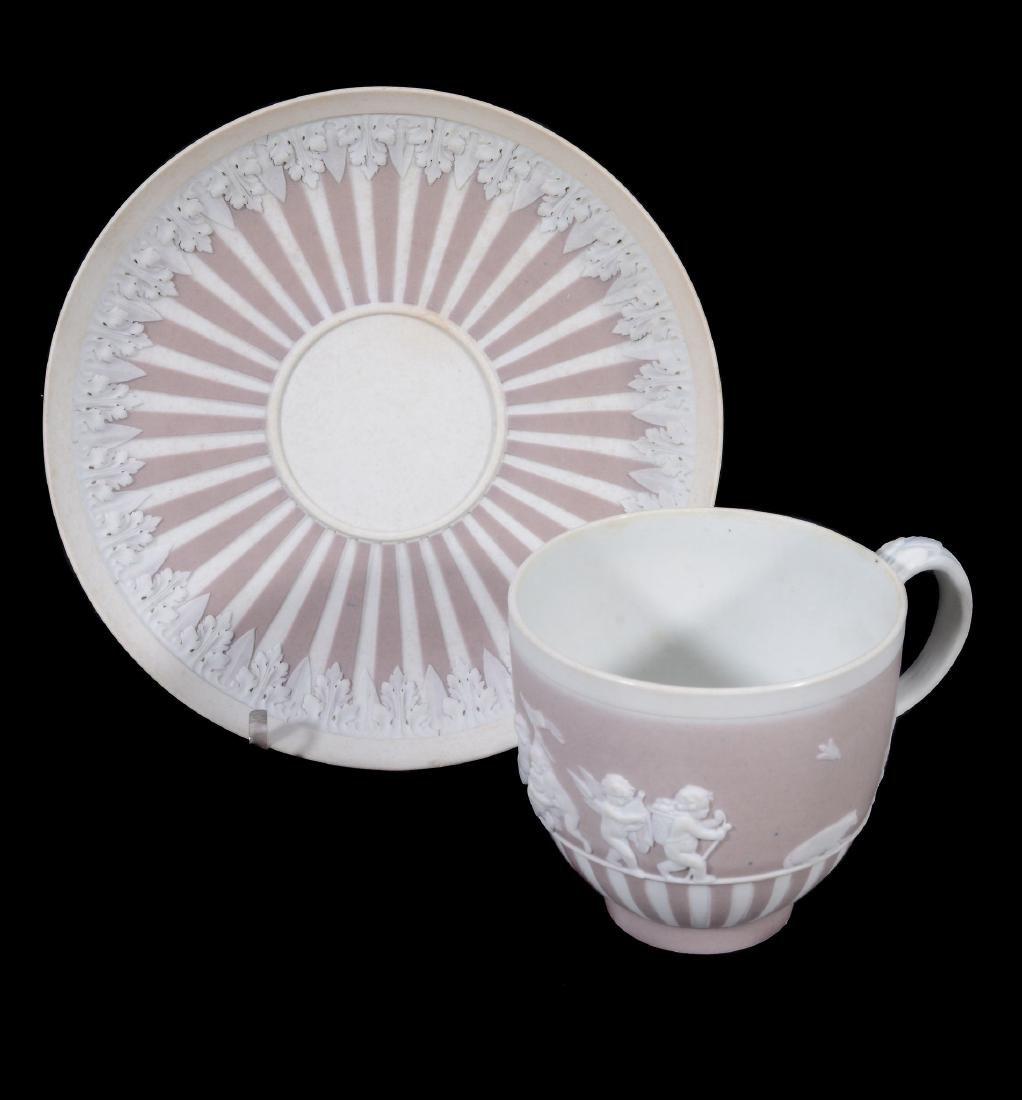 A Wedgwood lilac-dip jasper cylindrical custard cup and - 2