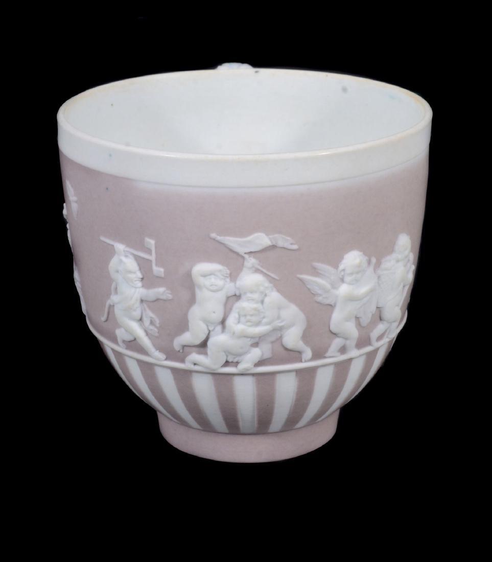 A Wedgwood lilac-dip jasper cylindrical custard cup and - 3