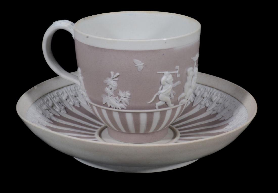 A Wedgwood lilac-dip jasper cylindrical custard cup and - 8