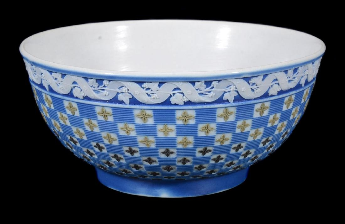 A Wedgwood four-colour jasper 'diced' slop bowl from a - 2