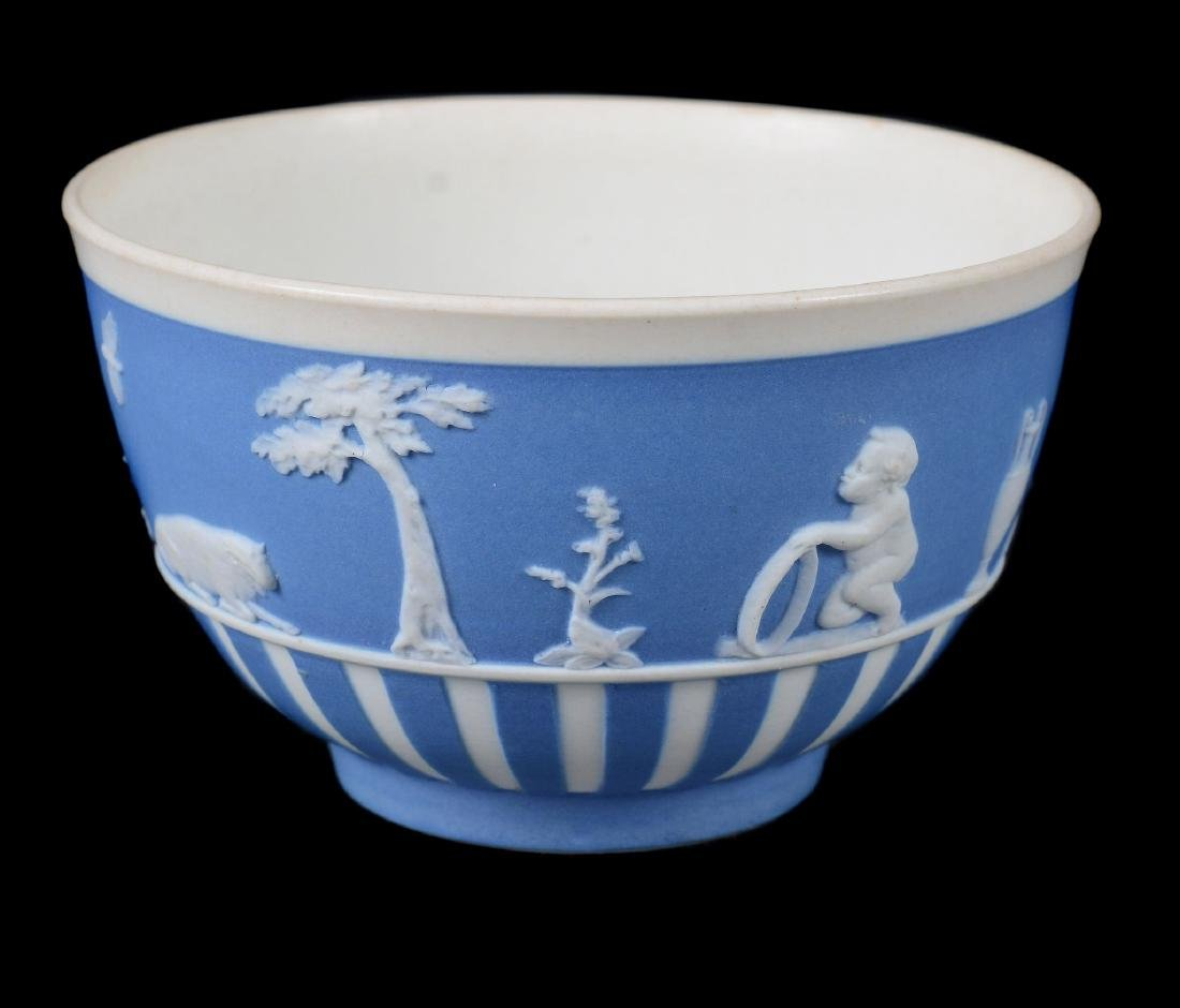 A group of three Wedgwood pale-blue dip white jasper - 10