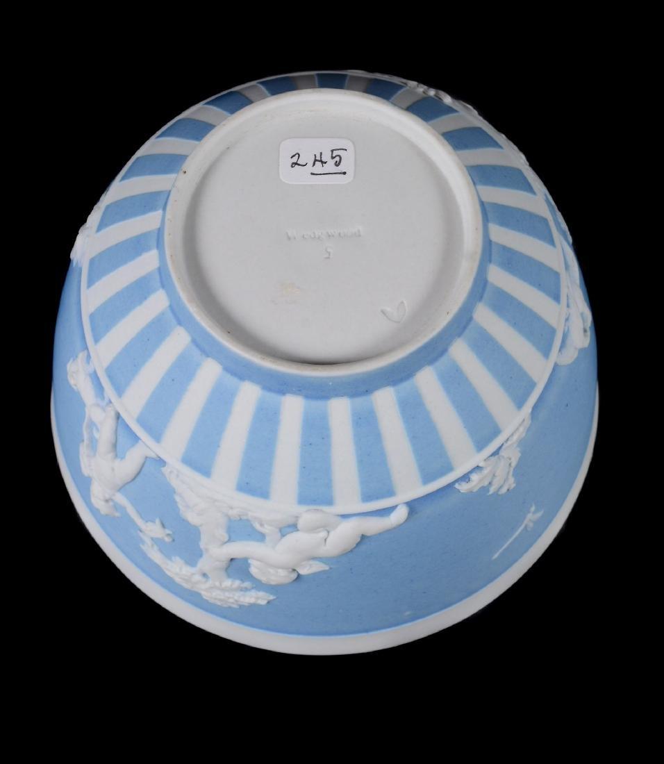 A group of three Wedgwood pale-blue dip white jasper - 6