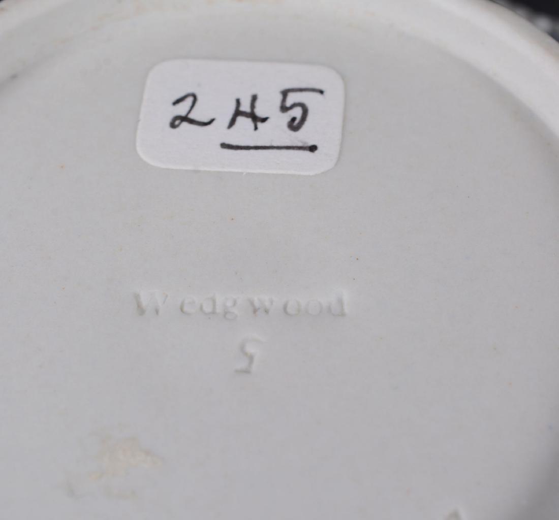 A group of three Wedgwood pale-blue dip white jasper - 7