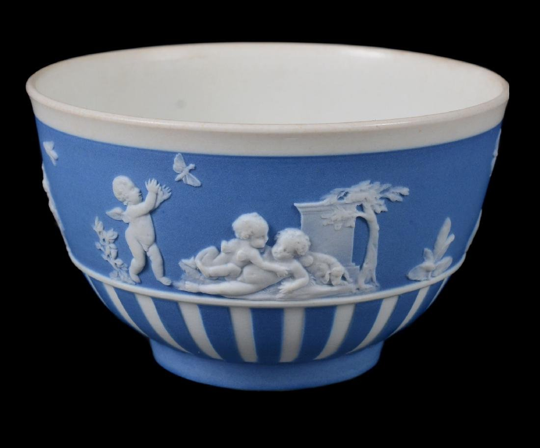 A group of three Wedgwood pale-blue dip white jasper - 9