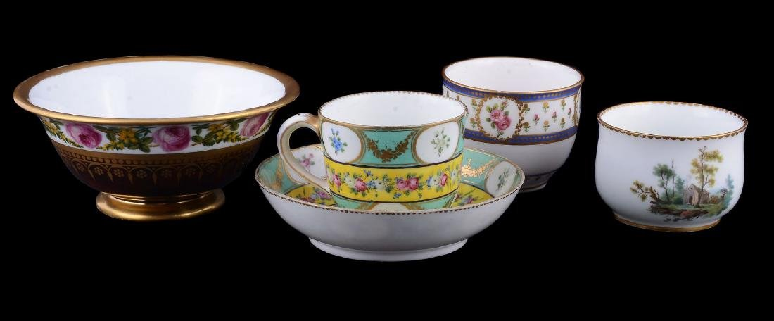A Sevres porcelain sugar bowl , circa 1784