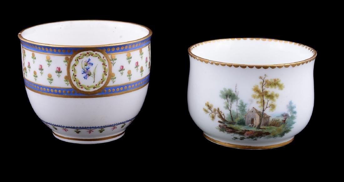 A Sevres porcelain sugar bowl , circa 1784 - 4