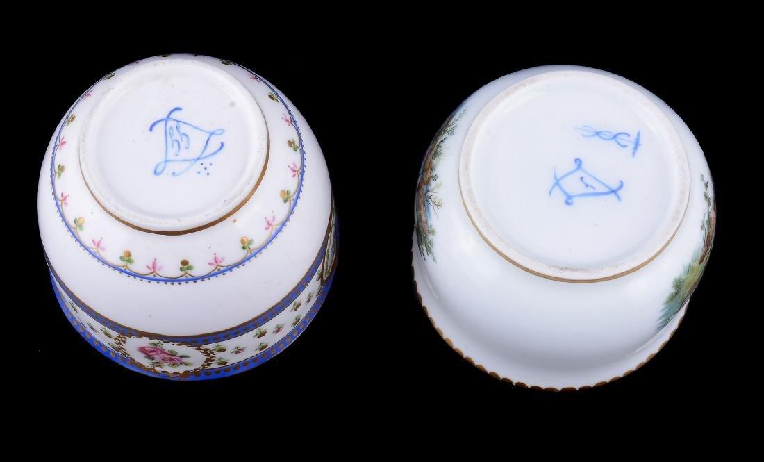A Sevres porcelain sugar bowl , circa 1784 - 6