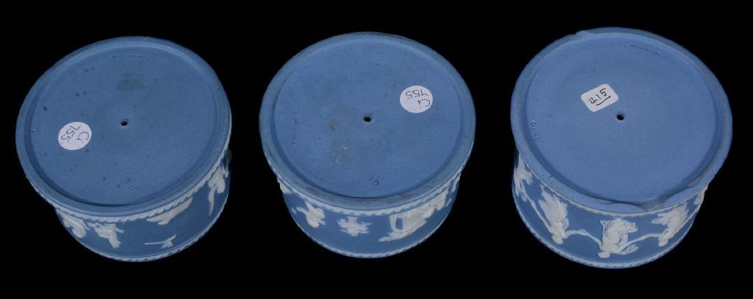 A pair of Wedgwood pale-blue dip jasper salt cellars, - 4