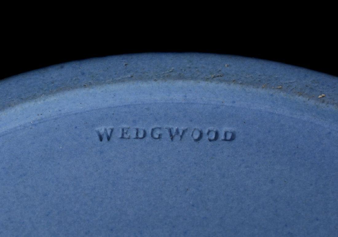 A pair of Wedgwood pale-blue dip jasper salt cellars, - 5