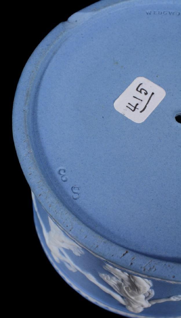 A pair of Wedgwood pale-blue dip jasper salt cellars, - 6