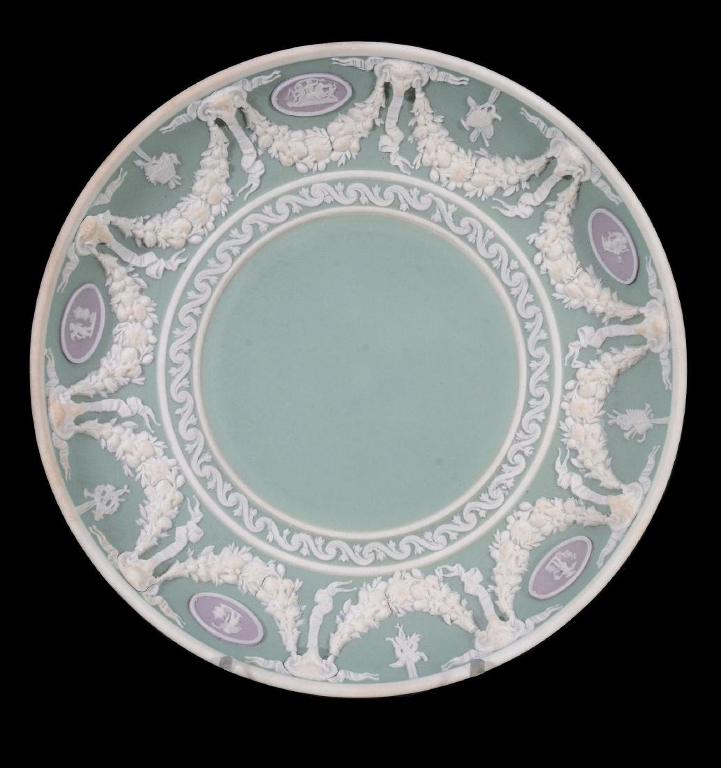 A Wedgwood three colour jasper coffee can and saucer, - 3