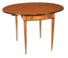 A George III satinwood and banded Pembroke table ,