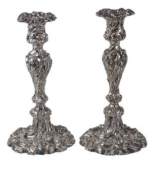 A pair of late Victorian silver shaped circular