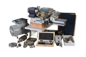 A Petrol Model Engineering/Clock makers lathe, with 1/4