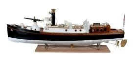 A fine detailed 1/12th scale model of a Royal Navy