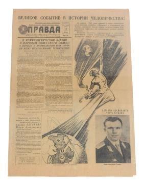 Yuri Gagarin : a rare and historic original copy of
